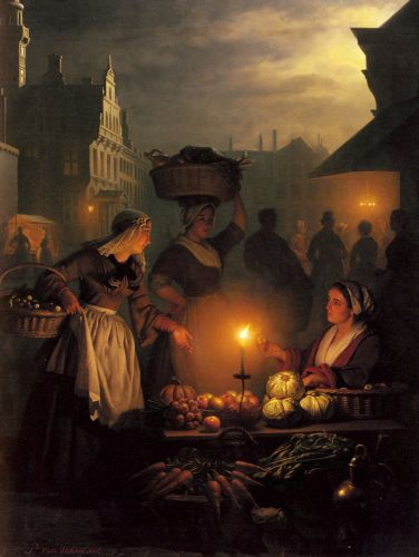 The Night Market by Petrus van Schendel