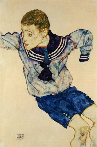 Boy in a Sailor Suit by Egon Schiele