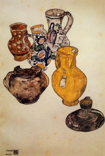 Ceramics by Egon Schiele