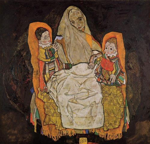Mother with Two Children by Egon Schiele