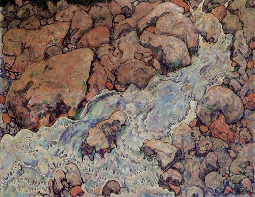 Mountain Torrent by Egon Schiele
