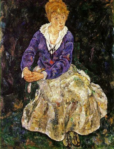 Portrait of the Artist's Wife Seated by Egon Schiele
