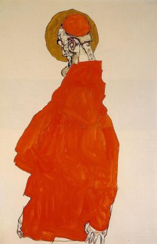 Standing Figure with Halo by Egon Schiele