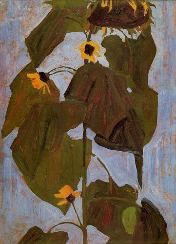 Sunflower by Egon Schiele