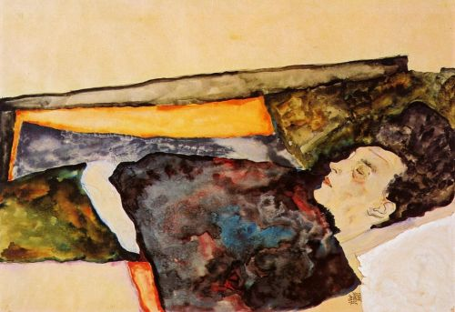 The Artist's Mother, Sleeping by Egon Schiele