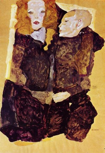 The Brother by Egon Schiele