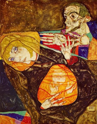 The Holy Family by Egon Schiele