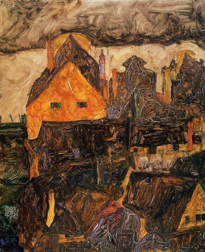 The Old City by Egon Schiele