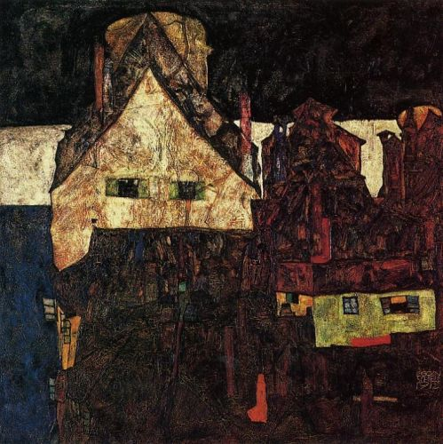 The Small City by Egon Schiele