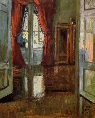 View into the Apartment of Leopold and Marie Czihaczek by Egon Schiele
