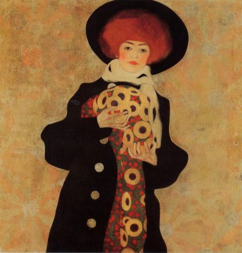 Woman with Black Hat by Egon Schiele