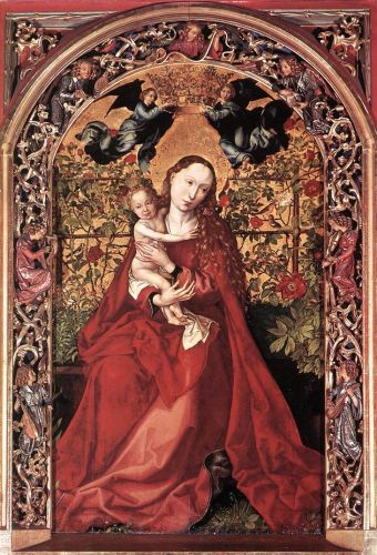 Madonna of the Rose Bush by Martin Schongauer