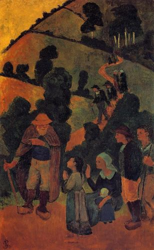 Bretons on a Path by Paul Sérusier