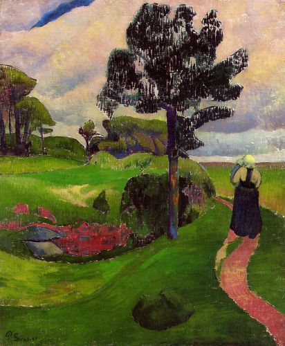 Mother and Child on a Breton Landscape by Paul Sérusier