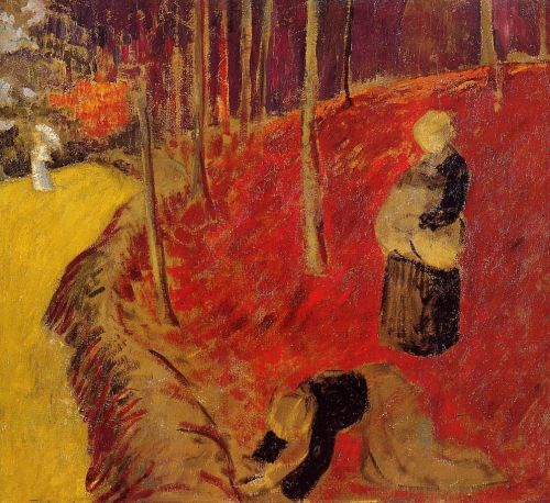 The Fern Harvesters in the Boid d'Amour at Pont Aven by Paul Sérusier