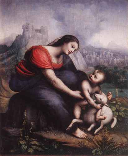 Madonna and Child with the Lamb of God by Cesare da Sesto