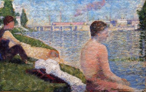 Bathing at Asnieres: Seated Bather by Georges Seurat