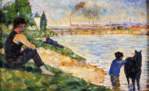 Bathing at Asnieres: The Black Horse by Georges Seurat