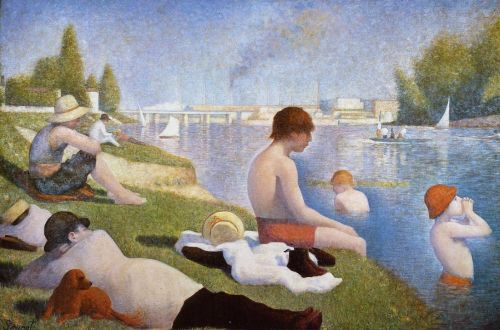 Bathing at Asnieres by Georges Seurat