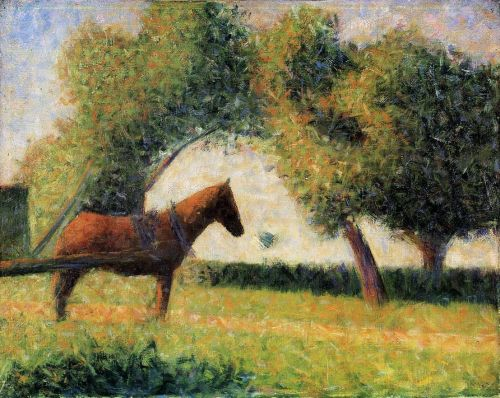 Horse and Cart by Georges Seurat