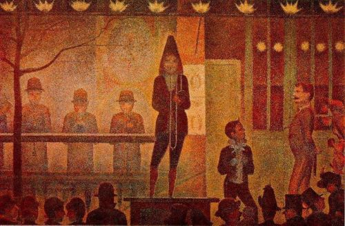 Invitation to the Sideshow by Georges Seurat