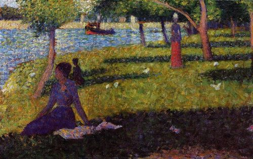 La Grande Jatte: Seated and Standing Woman by Georges Seurat