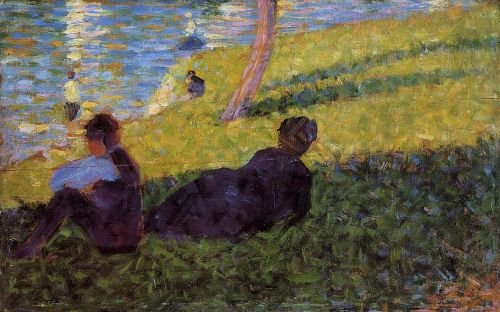 La Grande Jatte: Seated Man, Reclining Woman by Georges Seurat