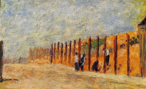 Peasants Driving Stakes by Georges Seurat