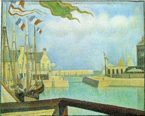 Port-en-Bessin: Sunday by Georges Seurat