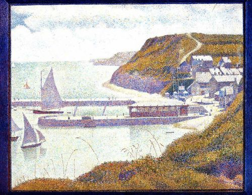 Port-en-Bessin, The Outer Harbor, High Tide by Georges Seurat