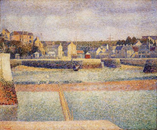 Port-en-Bessin, The Outer Harbor, Low Tide by Georges Seurat