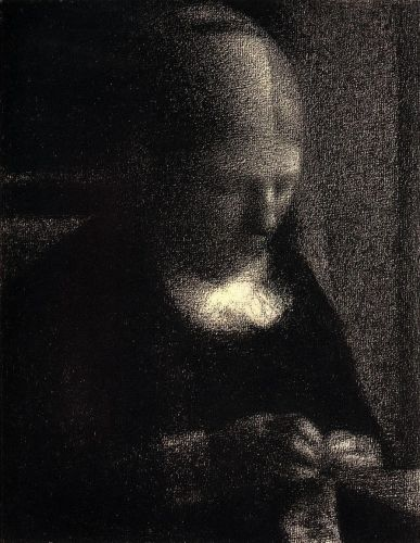 The Artist's Mother by Georges Seurat