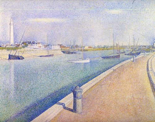 The Channel at Gravelines, Petit-Fort-Philippe by Georges Seurat