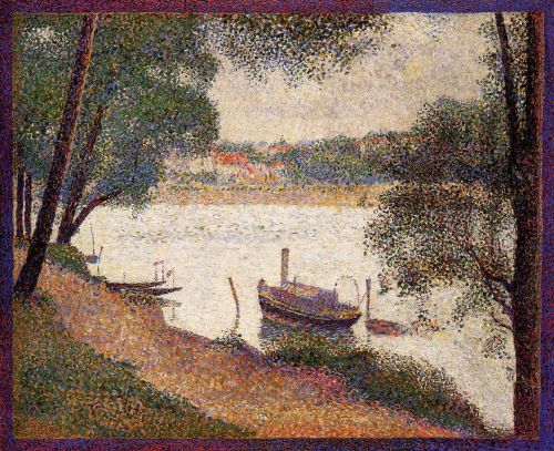 The Seine at La Grande Jatte in the Spring by Georges Seurat