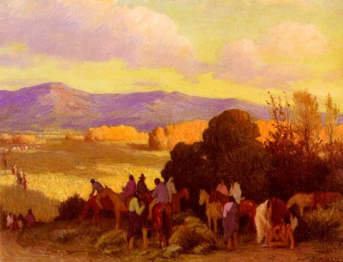 Rabbit Hunt, Taos Valley by Joseph Henry Sharp