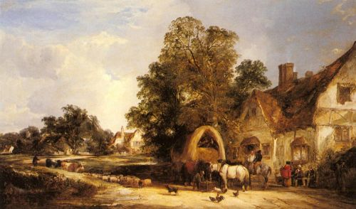 The Half Way House, Thatcham by William Shayer