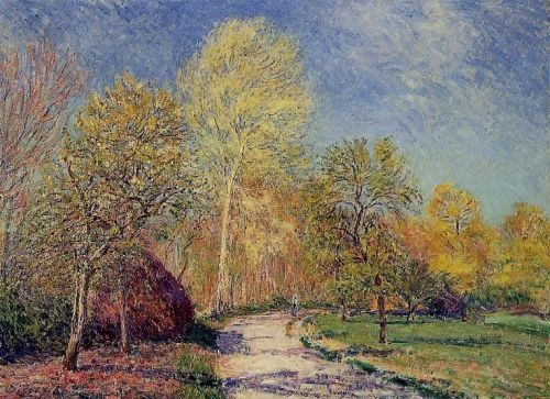 A May Morning in Moret, 1886 by Alfred Sisley