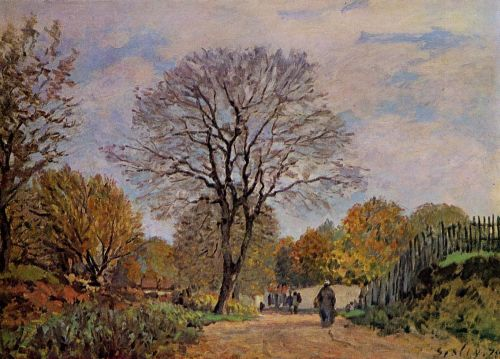 A Road in Seine-et-Marne, 1875 by Alfred Sisley