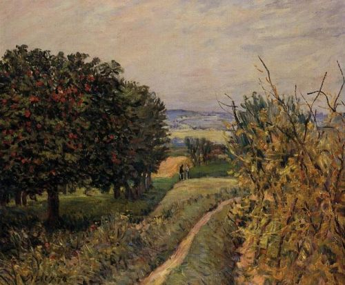Among the Vines near Louveciennes, 1874 by Alfred Sisley