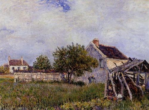 An Old Cottage at Sablons, 1885 by Alfred Sisley