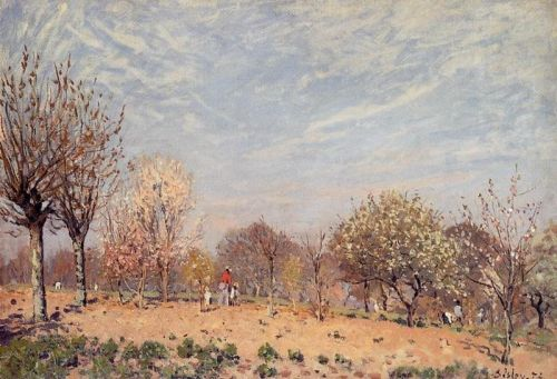 Apple Trees in Flower, Spring Morning, 1873 by Alfred Sisley
