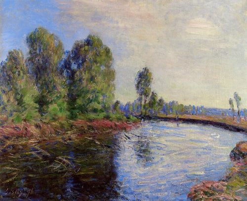Banks of the Loing, 1896 by Alfred Sisley