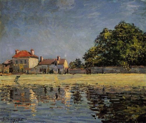 Banks of the Loing at Saint-Mammes, 1885 by Alfred Sisley