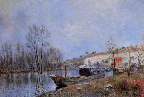 Banks of the Loing towards Moret, 1883 by Alfred Sisley