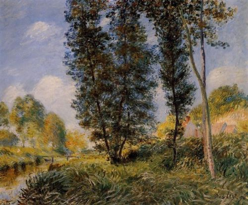 Banks of the Orvanne, 1890 by Alfred Sisley
