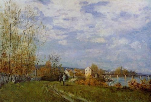 Banks of the Seine at Bougival, 1876 by Alfred Sisley