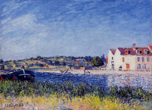 Confluence of the Seine and the Loing, 1885 by Alfred Sisley