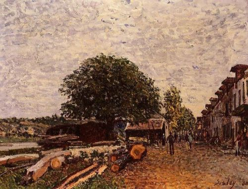 Construction Site at Saint-Mammes, 1880 by Alfred Sisley