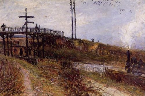 Footbridge over the Railroad at Sevres, 1879 by Alfred Sisley