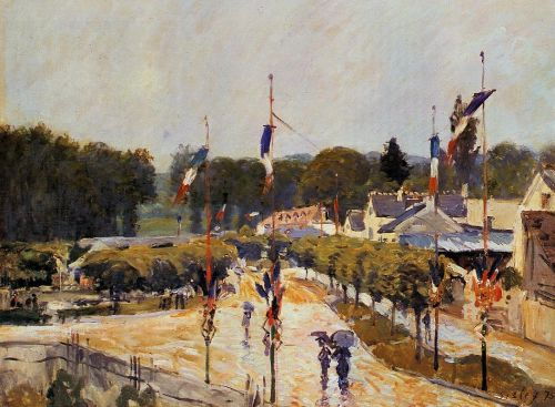 Fourteenth of July at Marly-le-Roi (Fete Day at Marly-le-Roi), 1875 by Alfred Sisley